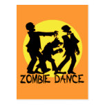 Zombie Dance Postcard Post Card
