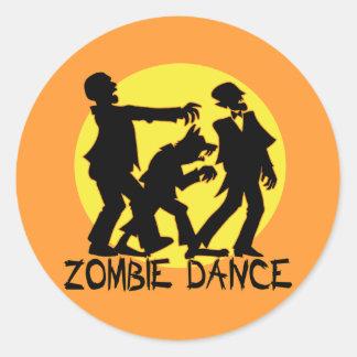 Zombie Dance Stickers/Envelope Seals Classic Round Sticker