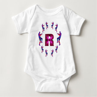 ZOMBIE Dancing with Alphabets : A to Z Baby Bodysuit