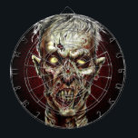 "Zombie Darts Dart Board<br><div class=""desc"">The perfect way to hone your zombie killing skills! This gruesomely delightful,  full color dart board will keep zombie hunters entertained for hours!</div>"