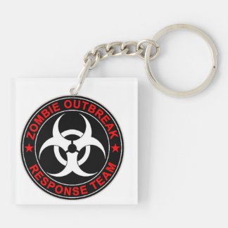 Zombie Dead Response Team Walking Rescue Team Keychain