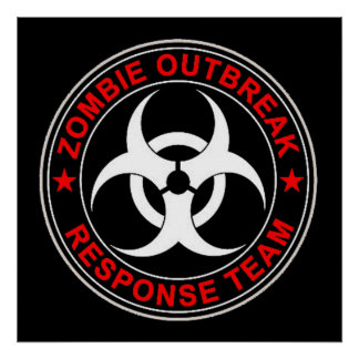 Zombie Dead Response Team Walking Rescue Team Posters