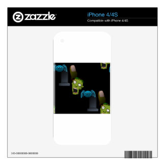 zombie decal for iPhone 4