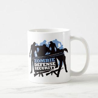 Zombie Defense Security - Black and Blue Coffee Mug