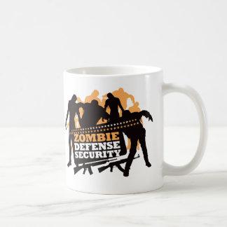 Zombie Defense Security - Black and Orange Coffee Mug