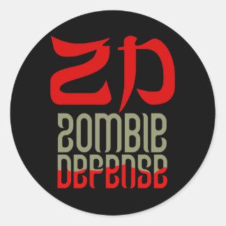 Zombie Defense Stickers