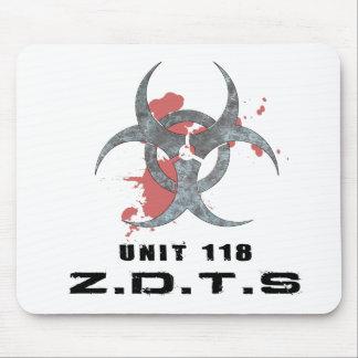 Zombie Defense Tactical Squad mousepad white 2