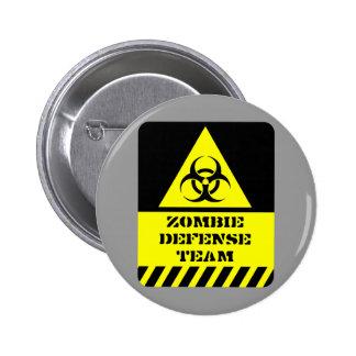 Zombie Defense Team Pinback Button