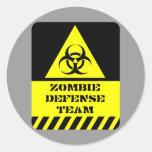 Zombie Defense Team Round Sticker
