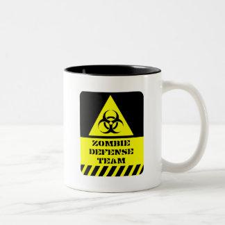 Zombie Defense Team Two-Tone Coffee Mug