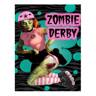 Zombie Derby Post Cards