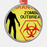 Zombie Design Christmas Ornaments