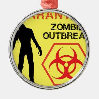 Zombie Design Metal Ornament