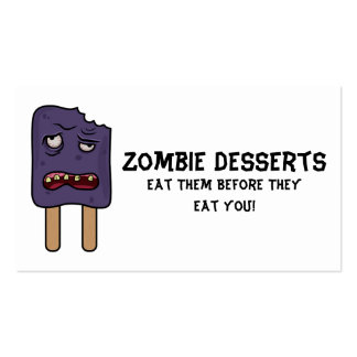 Zombie Desserts (Double Popsicle) Business Card