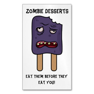 Zombie Desserts (Double Popsicle) Business Card Magnet