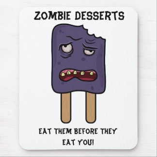 Zombie Desserts (Double Popsicle) Mouse Pad