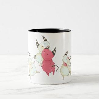Zombie Devils - Little devil art Two-Tone Coffee Mug