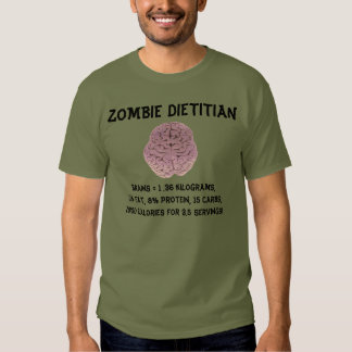 ZOMBIE DIETITIAN T-SHIRT (for lighter shirts)