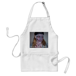 Zombie Dinner Party Apron Funny Zombie Bodypaint