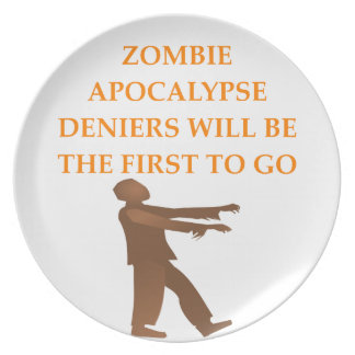ZOMBIE DINNER PLATE