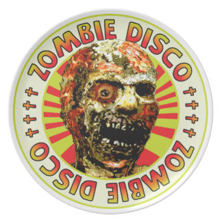 Zombie Disco Party Plates