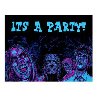 Zombie Disco Postcard