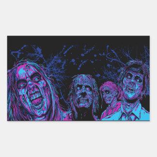 Zombie Disco Rectangular Sticker