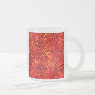 Zombie Disease Virus Frosted Glass Coffee Mug