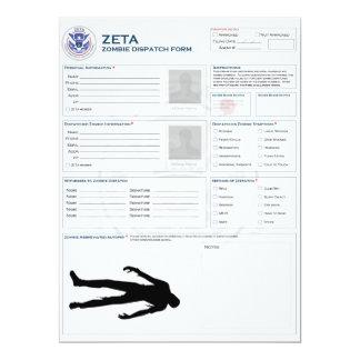 Zombie Dispatch Form Card