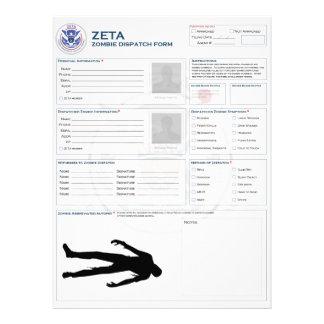 Zombie Dispatch Form Custom Invite