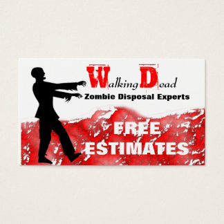 Zombie Disposal Business Cards