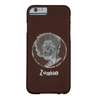 Zombie Distressed Looking Graphic Red/Grey Barely There iPhone 6 Case