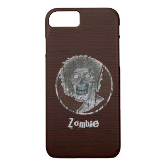 Zombie Distressed Looking Graphic Red/Grey iPhone 8/7 Case