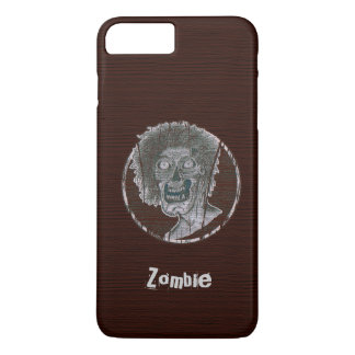 Zombie Distressed Looking Graphic Red/Grey iPhone 8 Plus/7 Plus Case