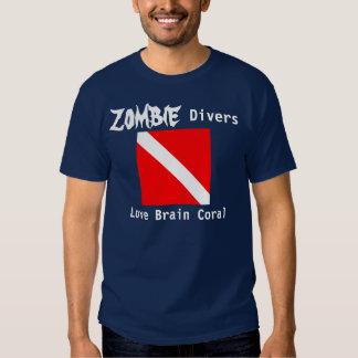 Zombie Divers Love Brain Coral (dark) T-Shirt