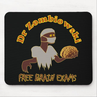 Zombie Doctor Free Brain Exams Design Mousepads