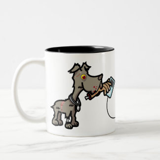 Zombie Dog Fetching Two-Tone Mug
