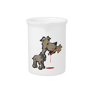 Zombie Dog Illustration by Daily Undead Drink Pitcher