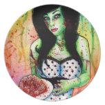 Zombie Doll Tattoo Flash Dinner Plates