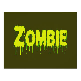 Zombie Drip 4.25x5.5 Paper Invitation Card