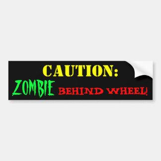 Zombie Driver Car Bumper Sticker