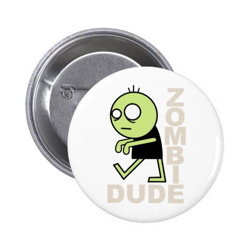 Zombie Dude Pins