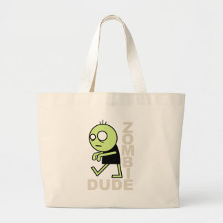 Zombie Dude Large Tote Bag