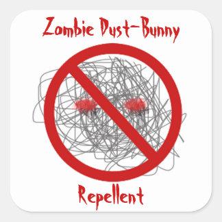 Zombie dust-bunny repellent square sticker