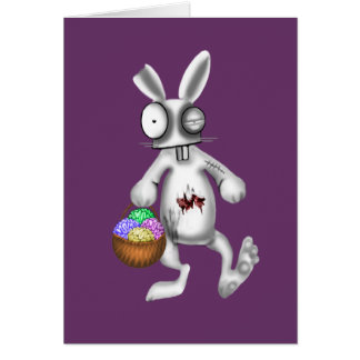 zombie easter bunny card