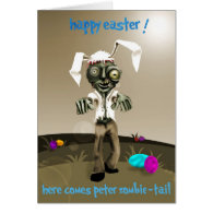 zombie easter greeting cards