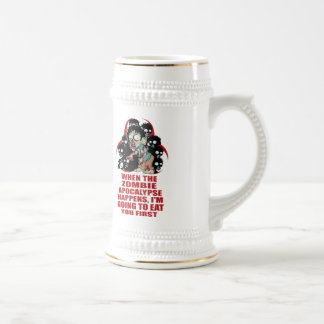 Zombie Eat You First 18 Oz Beer Stein