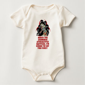 Zombie Eat You First Bodysuit