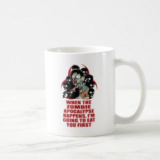 Zombie Eat You First Classic White Coffee Mug