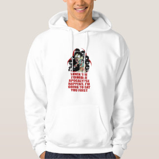 Zombie Eat You First Hoody
